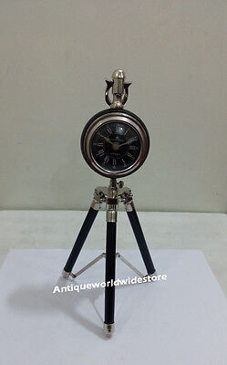 Antique Maritime brass desk clock Nautical Table Clock Vintage collectible
