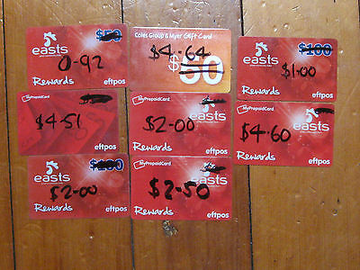 $22.17  Total Used Eftpos Cards Myers