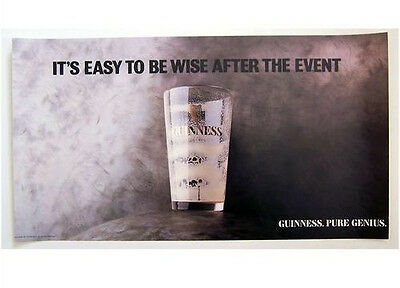 Guinness Poster - 'Easy To Be Wise', c1980s