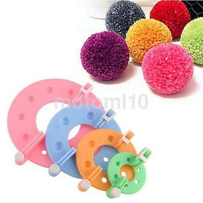 8Pcs 4Size Pompom Maker Fluff Ball Crocheting Knitting Craft Tool Accessories US