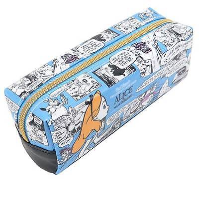 Alice in Wonderland Disney Comic Pencil Case, Zipped Pouch, Kamio Japan