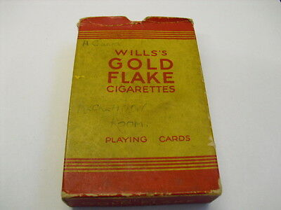 Vintage Playing Cards Wills's Gold Flake - Home Guard Recreation Room