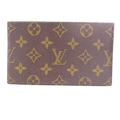 LV Louis Vuitton Checkbook Cover Hülle in Braun Monogram Canvas (C 1809)