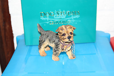 Yorkshire Terrier with lead Dog Ornament Figurine by Leonardo. Brand New in Box
