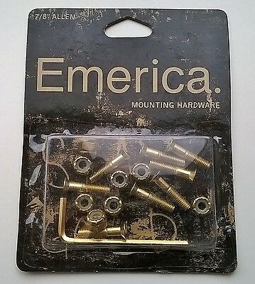 "FREE 1st class post - Emerica Stay Gold 7/8"" Allen Mounting Hardware Skate Bolts"