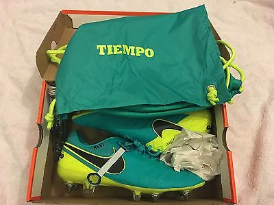 Nike Tempo Mens Older Boys Football Boots Trainers Metal Studs Size 8 Rrp Save!!