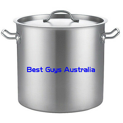 Brand New Stainless Steel Stock Pot 12L (25Cm)  Chef Quality 12 Month Warranty