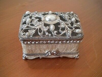 Mother-of-pearl and silver jewelry box