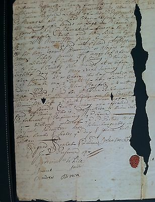 1718 Colonial Maine Sir William Pepperrell Agreement With Lt. John Stackpole!!!!