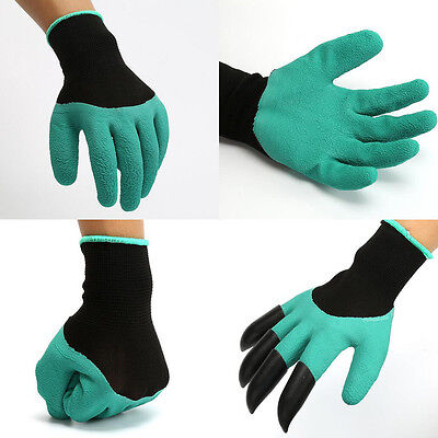 Brand New Rubber+Polyester Safety Work Gloves Builders Grip Gardening Dig SW
