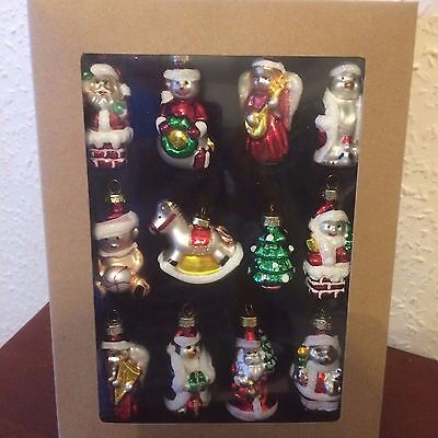 Baubles Glass For Christmas Tree, 12 Of Set, New