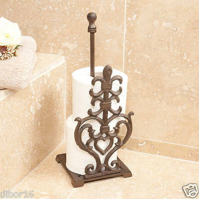 Vintage Antique Style Cast Iron Toilet Roll Holder by Dibor
