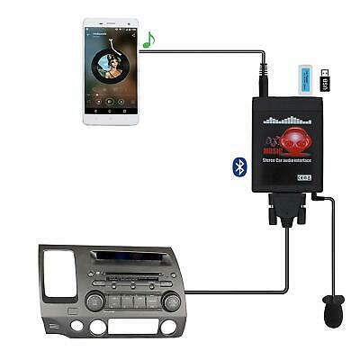 Car Aux+USB Adapter Bluetooth Stereo Radio Interface Kit For Accord Civic S2000