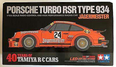 Tamiya 84431 Porsche 934 Jägermeister 40 Years LTD TA02SW (Inc Light Unit) NIB