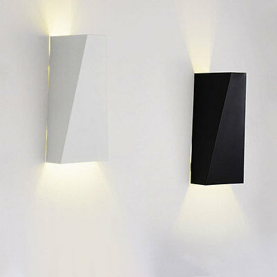 10W Warm White Modern LED Wall Lights Up Down Cube Indoor Outdoor Sconce Lamps