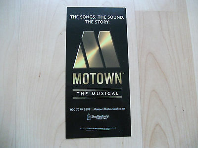 **Motown The Musical Flyer at Shaftesbury Theatre London Good Condition**