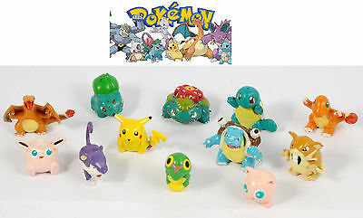 12 pz action figure personaggi POKEMON TOMY originali 2 cm