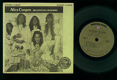 "7"" Alice Cooper Billion Dollar Babies Mini Lp Made In Usa Juke Box Llp #208 1973"