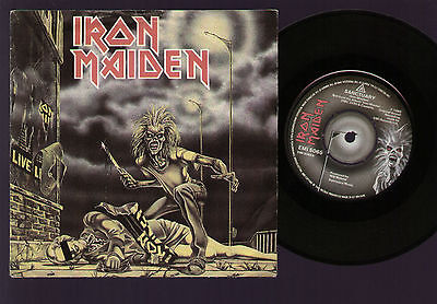 """7"""" Iron Maiden Sanctuary / Drifter / I've Got The Fire Live At Marquee Uk 1980"""