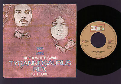 "7"" Tyrannosaurus Rex Ride A White Swan / Is It Love Italy 1971 Marc Bolan T. Rex"