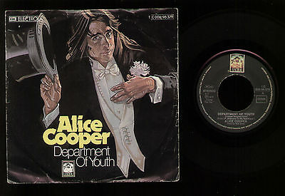 """7"""" Alice Cooper Department Of Youth / Cold Ethyl Made In Germany 1975 Anchor Rec"""