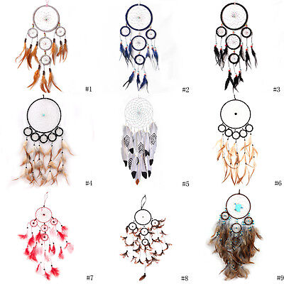 9 Styles Handmade Dream Catcher Feather Wall Hanging Room Decoration Ornament