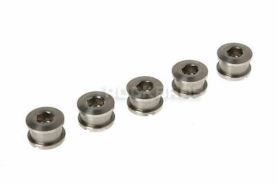 Rockbros Titanium Crankset Chainring Bolts Nuts M8 for Fixed Gear Track 5pairs