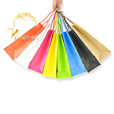 Luxury Kraft Paper Gift Carrier Bags w' Handle Loot Shopping Wedding Party Print
