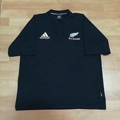 Adidas All Blacks Jersey New Zealand Rugby Union Running T Shirt Top TShirt L