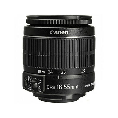 "Canon EF-S 18-55mm f/3.5-5.6 IS Lens Image Stabilizer "" Bulk Package """