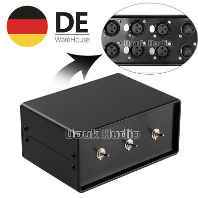 Stereo 3-IN-1-OUT Audio-Splitter/-Umschalter XLR Balance Signal Switcher Passive