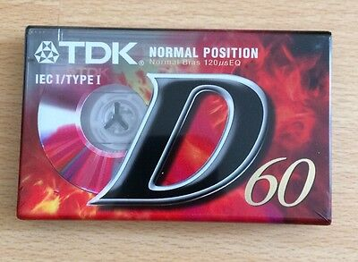 x3 TDK D60. Blank Cassettes. Normal Position. *New & Sealed*