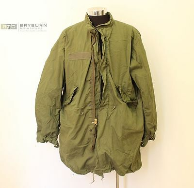 US Army M65 Fishtail Parka with Liner & Hood - Genuine US Issue - Size Large