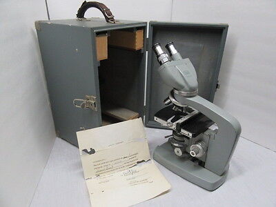 Vintage Microscope Kyowa Lumiscope Model 671523 certified with case