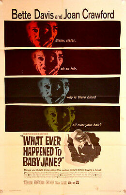 WHAT EVER HAPPENED TO BABY JANE? US One Sheet (1962) Robert Aldrich, Bette