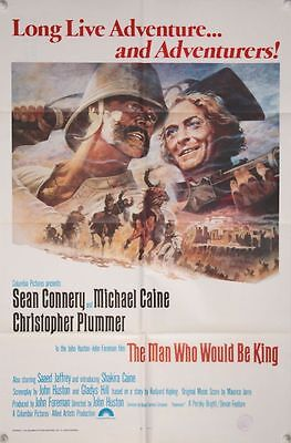 THE MAN WHO WOULD BE KING - Original US Int'l One Sheet (1975) Michael Caine -