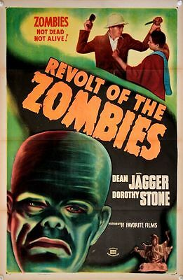 REVOLT OF THE ZOMBIES US One Sheet Film Poster (1947Re-Release) fantastic