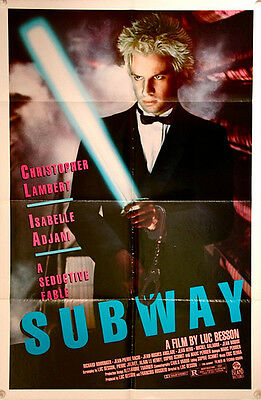 SUBWAY Original US One Sheet Film Poster (1985) Luc Besson, image of