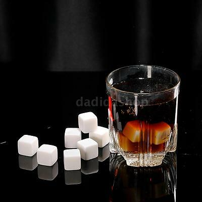 12pcs 18mm Whisky Ice Stones Drinks Cooler Cubes Beer Rocks Granite Anself E6O0