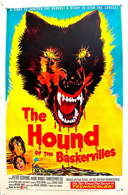 THE HOUND OF THE BASKERVILLES Linen Backed  US One Sheet Film Poster (1959)