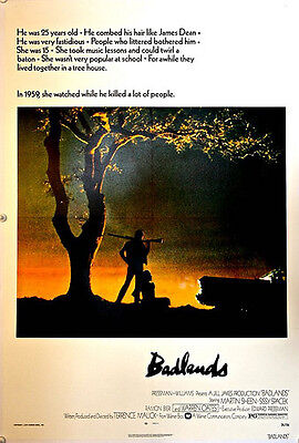 BADLANDS Linen Backed (1974) US One Sheet Film Poster Terence Malick's cult