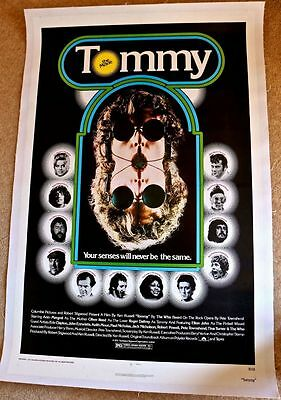 TOMMY linen backed One Sheet (1975) The Who, Roger Daltrey