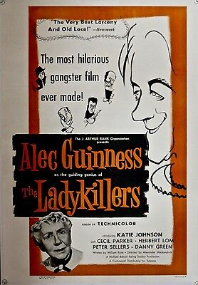 THE LADYKILLERS One Sheet (1955) Linen backed  Alec Guinness READY TO FRAME