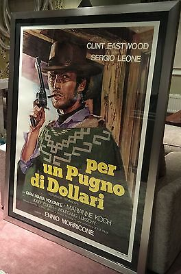 A FISTFUL OF DOLLARS Italian One Panel (Re-Release 1976) Linen Backed and Framed
