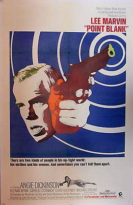 POINT BLANK US One Sheet LINEN BACKED (1967) Lee Marvin, Angie Dickinson