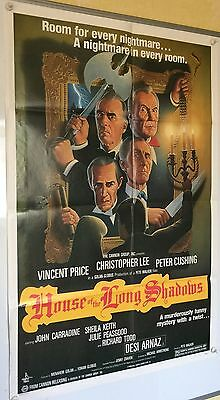 HOUSE OF THE LONG SHADOWS US One Sheet (1983) Vincent Price, Peter Cushing,