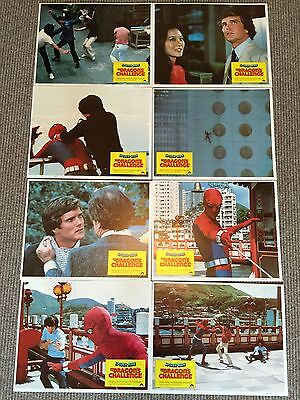 Spider-Man The Dragon's Challenge (1980) Original Full Set of Lobby Cards