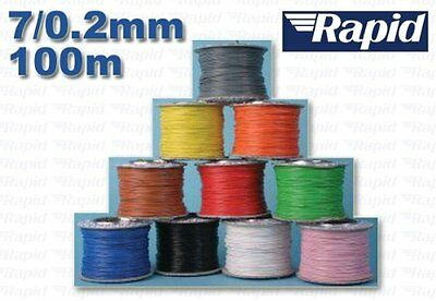 RAPID 7/0.2 Equipment Wire Cable 100m reel Black