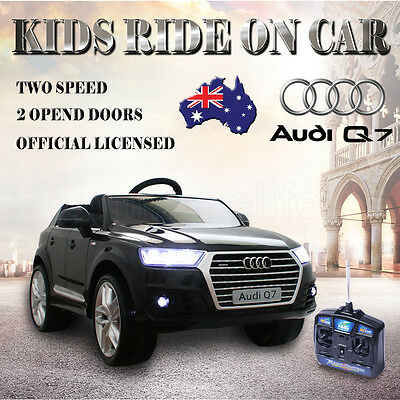 Licensed Audi Q7 Electric Kids Children Ride On Car Remote Control Battery 12V