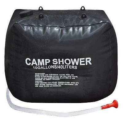 40L Camping Hiking Solar Heated Camp Shower Bag Water Bag For Outdoor Shower NEW